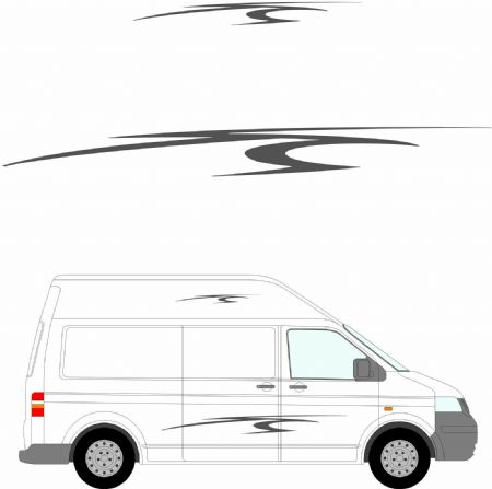 (No.189) MOTORHOME GRAPHICS STICKERS DECALS CAMPER VAN CARAVAN UNIVERSAL FITTING